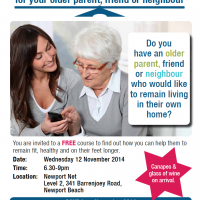 Older parents information workshop